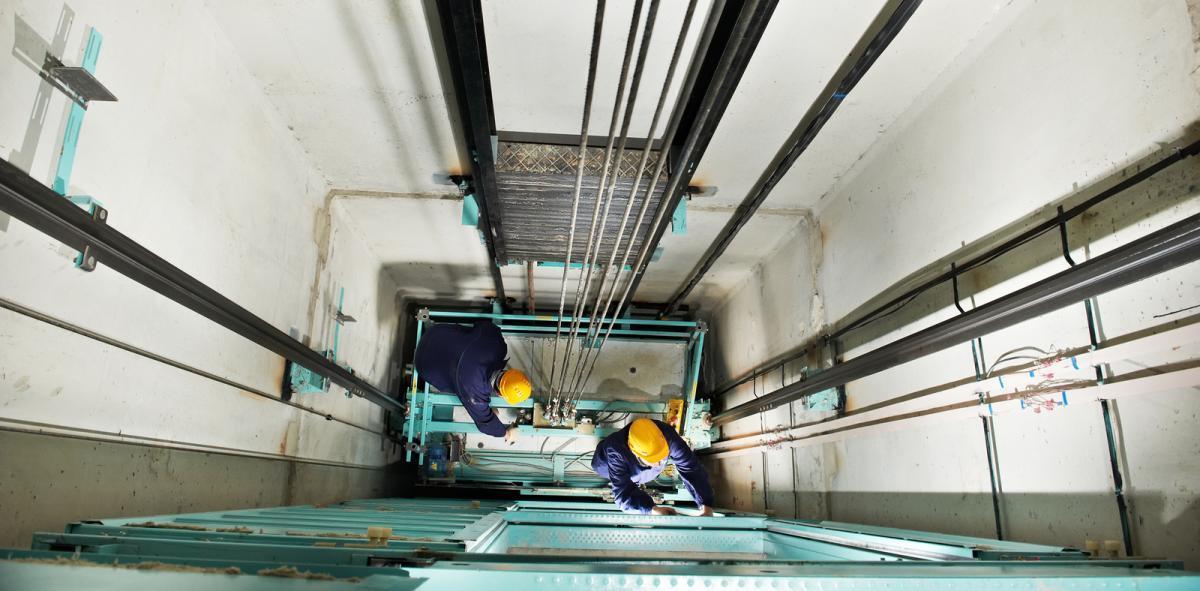 commercial elevator workers AVS elevator